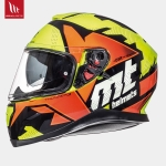 MT Thunder 3 Torn Gloss Fluor Yellow Fluor Orange