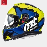 MT Thunder 3 Torn Gloss Fluor Yellow Blue