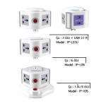 i-Plug Condo Like ปลั๊กไฟ ทรงคอนโด รุ่น IP-105+L05+L03U - Grey