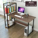 CASSA โต๊ะทำงาน โต๊ะเขียนหนังสือ โต๊ะสำนักงาน (สีดำ) ขนาด102x50cm. รุ่น F60-102x50-BB