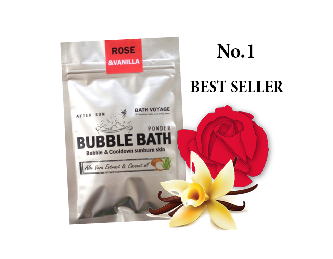 Rose&Vanilla After sun Bubble bath powder