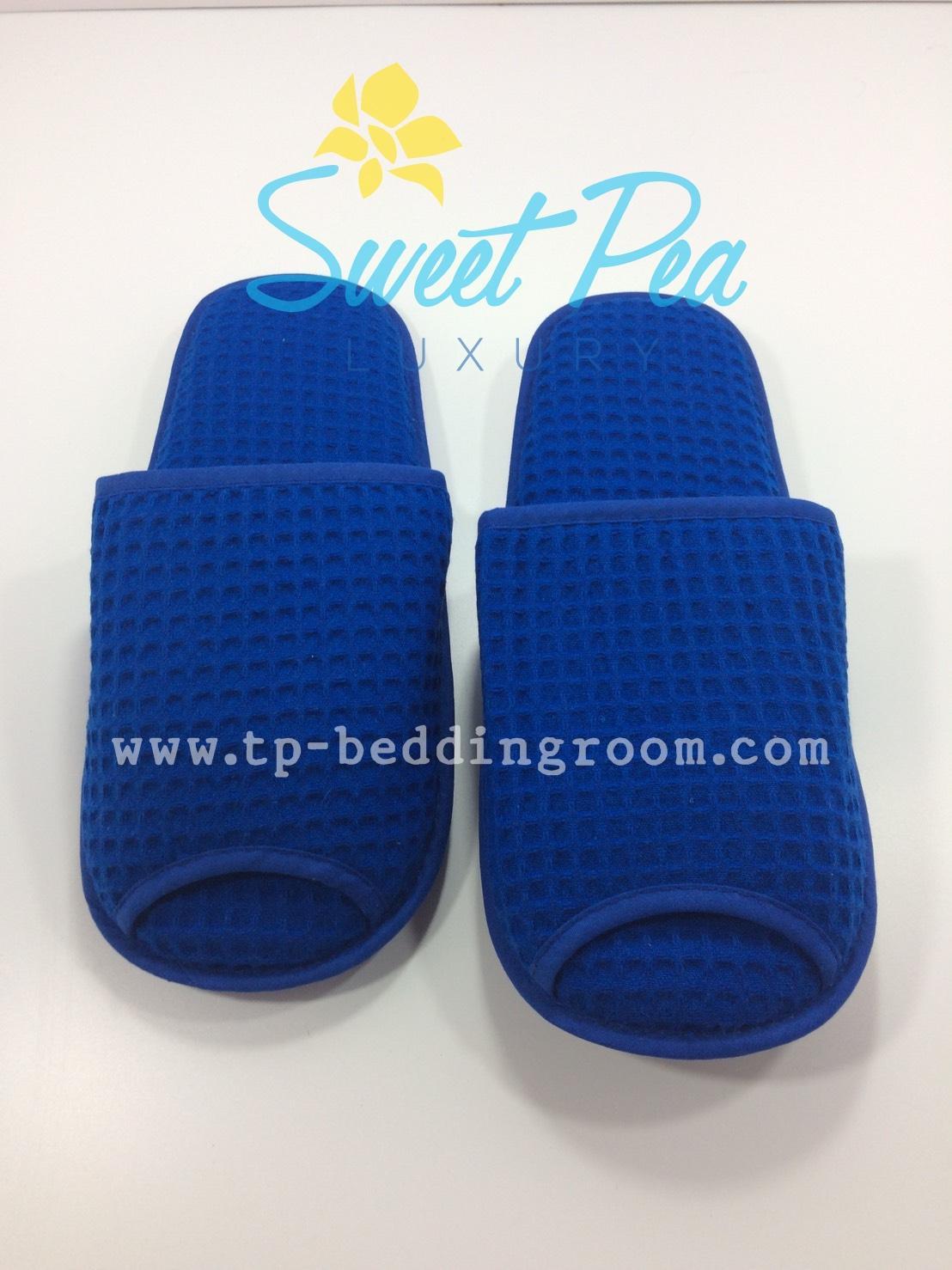 รองเท้า Slipper รังผึ้ง สีน้ำเงิน หัวเปิด