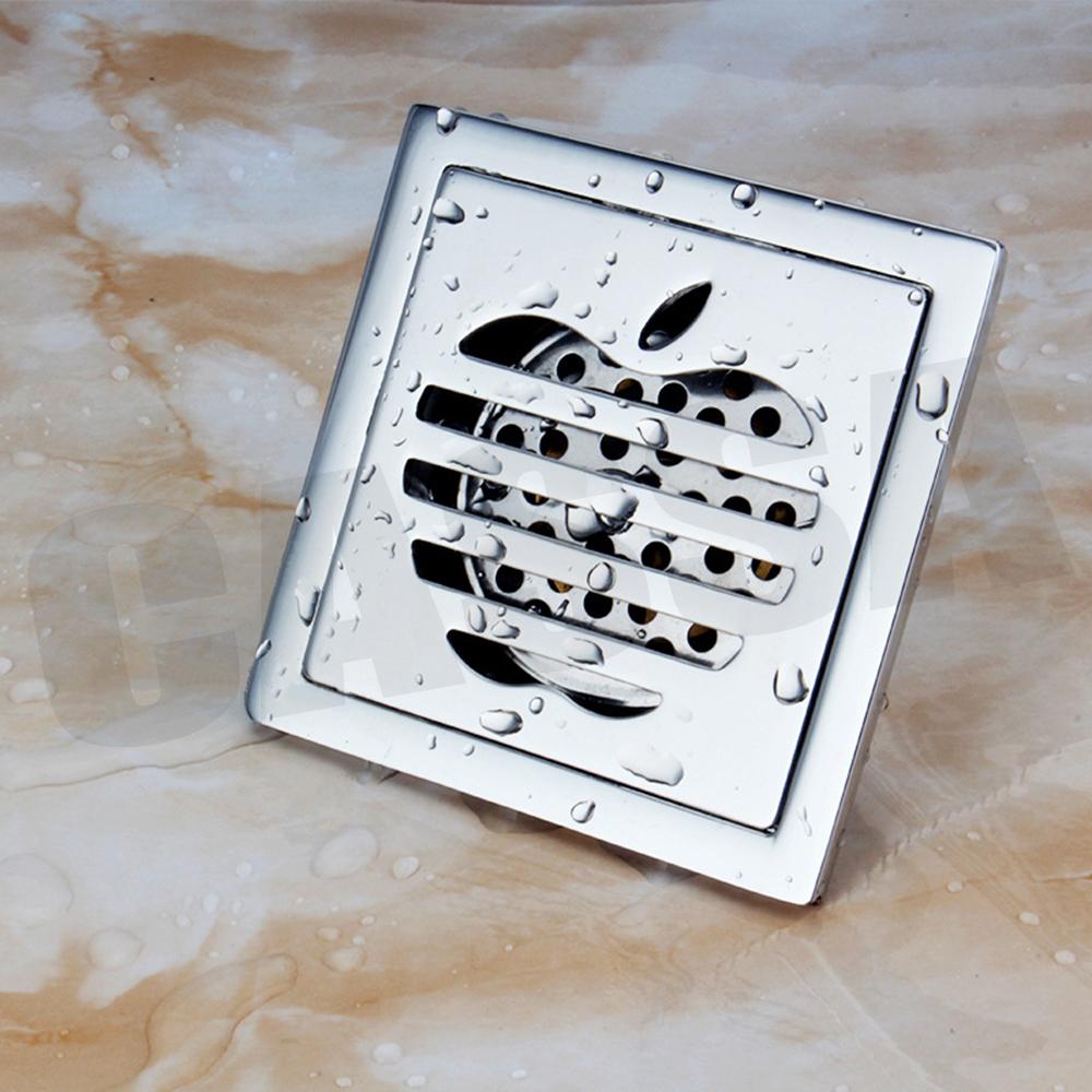 CASSA ตะแกรงท่อระบายน้ำ สแตนเลส304 กันกลิ่น กันแมลง สำหรับห้องน้ำ ทรงสี่เหลี่ยม