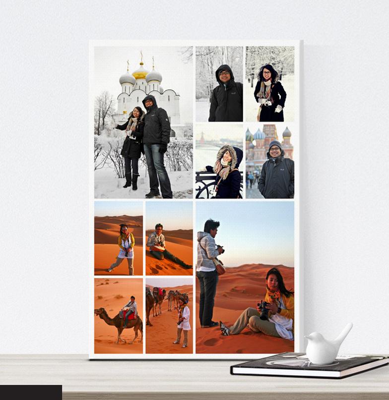 กรอบลอยแคนวาส Photo Collage 10 รูป คลิ๊ก!
