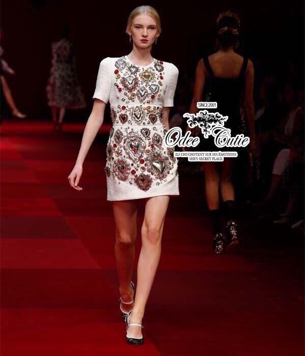 D&G heart of gems embroidery dress