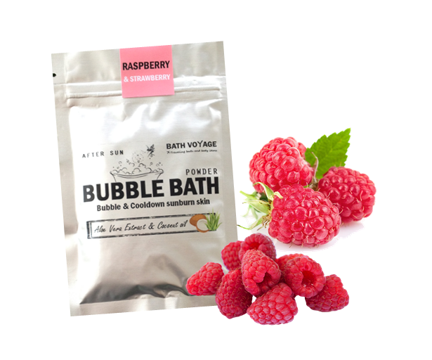 Raspberry&Strawberry After sun Bubble bath powder