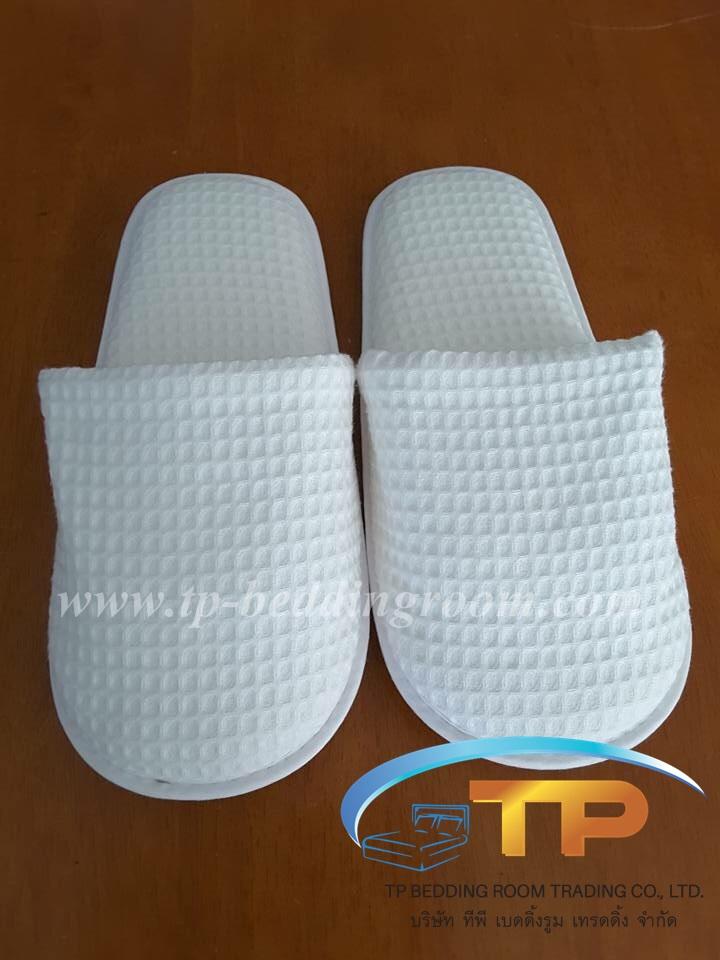 รองเท้า Slipper รังผึ้ง สีขาวหัวปิด