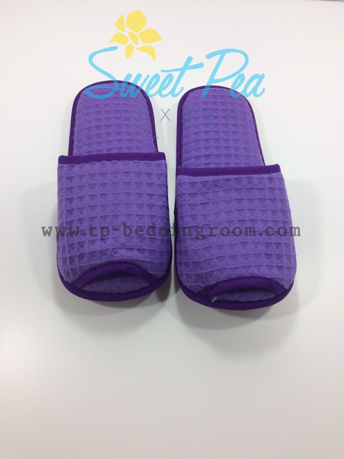 รองเท้า Slipper รังผึ้ง สีม่วง