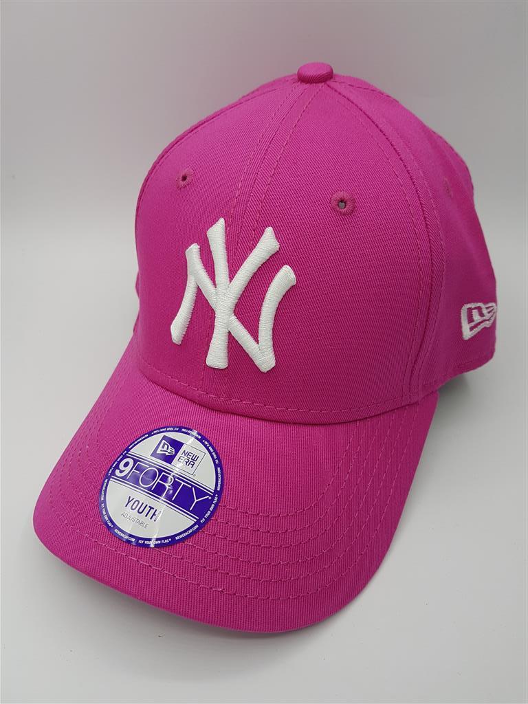 New Era MLB NY Yankees รุ่น Youth 9FORTY (สายเข็มขัด) สีชมพู Pink