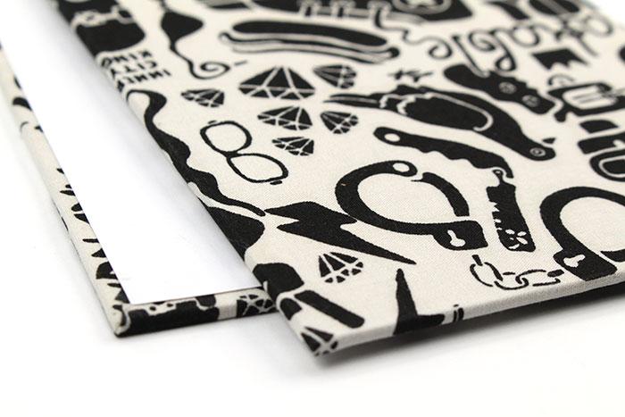ปกสมุดหุ้มผ้า ขนาด A6