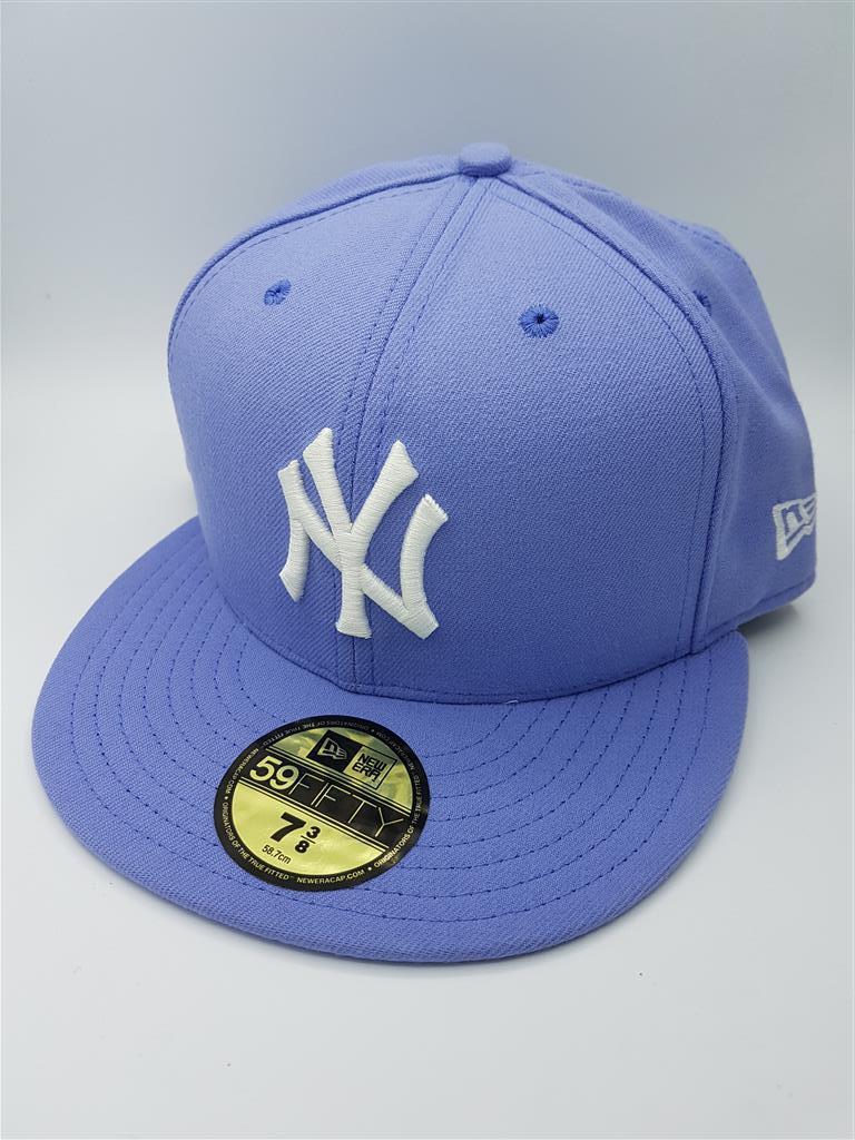 หมวก New Era ทีม New York Yankees รุ่น 59FIFTY ( ไซส์ 7 3/8 58.7 cm ) สีม่วงอ่อน
