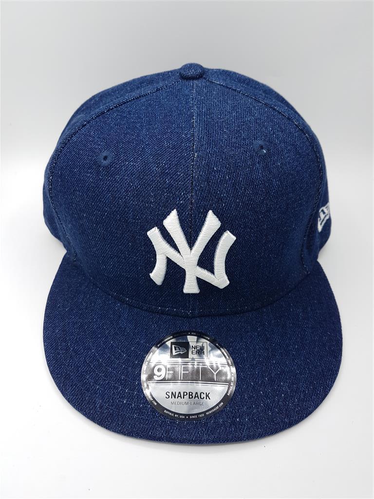New Era NY Yankees รุ่น 9Fifty ผ้ายีนส์ Denim ( Snapback ) ( ฟรีไซส์ 57-62cm )