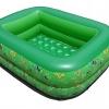 สระน้ำเด็กเป่าลม ขนาดเล็ก 120 cm ขอบ 2 ชั้น สีเขียว แถมฟรี ห่วงยางคอเด็ก