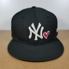 New Era MLB ทีม NY Yankees ดำปักขาว หัวใจ 🎃ไซส์ 7 1/2 ( 59.6cm )