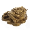 คางคกมงคลคาบเงินคาบทองฐานเหรียญทอง คาบเงินคาบทอง อวยพรโชคลาภ
