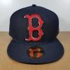 New Era MLB ทีม Boston Redsox สีกรม Biggie Logo 🎃ไซส์ 7 5/8 ( 60.6cm )