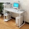CASSA โต๊ะคอมพิวเตอร์ประหยัดพื้นที่ พร้อมชั้นวางหนังสือและที่วางซีพียู (สีขาว-โครงขาว) ขนาด120X60cm. รุ่น F16-SC2-120X60CM-WW