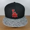 New Era MLB ทีม LA Dodgers สีดำปักแดง ปีกลาย White Cement Fitted ไซส์ 7 1/4. วัดได้ (58.2cm)