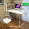 โต๊ะคอมพิวเตอร์ พร้อมชั้นวางหนังสือ (สีขาว) ขนาด120X60cm. รุ่น FB0010-H120X60CM-WW