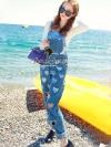 Sequin Infant's Apron Denim Playsuit เนื้อผ้ายีนส์เดนิมเนื้อยีนส์แท้ ทรงชิคๆ เก๋ๆ ด้วยทรงเอี๊ยมกางเกงขายาว มีดีเทลน่ารักๆ สวยๆ อยู่ที่งานเย็บประดับด้วยเลื่อมสีเงินๆ อมชมพูๆ น่ารักมากคะ ดีเทลงานทำยากมากๆ คะ งานเย็บประดับแน่นสวย ใช้เลื่อมเยอะมากปักประด