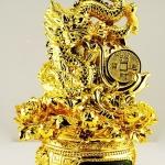 มังกรมงคลทองล้อกระถางมั่งมีตัวเเทนพลังอำนาจความยิ่งใหญ่