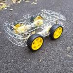 ชุดคิทหุ่นยนต์ ขับเคลื่อน 4 ล้อ ( 4WD smart car robot )