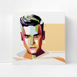 กรอบลอยแคนวาส วาดภาพเว็กเตอร์ Wpap pop art portrait
