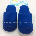 รองเท้า Slipper รังผึ้ง สีน้ำเงิน หัวเปิด (แพ็ค)