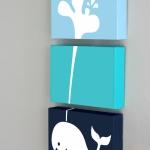 กรอบลอยผ้าแคนวาส ปลาวาฬ 3 ชิ้น