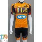 ชุดจักรยานแขนสั้น MTN 2016 ส้มดำ