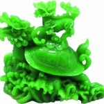 เต่ามังกรบนหลังมีกิเลนหยก