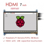"7"" LCD HDMI with capacitive touch 1024x600"