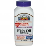 21st Century, น้ำมันปลา (Fish Oil), Maximum Strength, ขนาด 1200 mg, 90 เม็ด