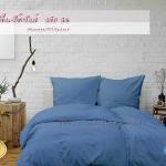 ชุดผ้าปูที่นอน 5 ฟุต สีฟ้ายีนส์ รหัส 14