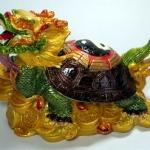 เต่าหัวมังกรฐานก้อนทอง บารมีมั่งคั่ง อายุวัฒนะ