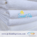 ผ้าห่มขนหนู ไซส์ 60″ x 80″ นิ้ว 40 ปอนด์ สีขาว