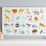 กรอบลอยแคนวาส Animal alphabet 24 x 16 นิ้ว แนวนอน