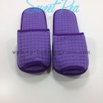รองเท้า Slipper รังผึ้ง สีม่วง หัวเปิด (แพ็ค)
