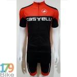 ชุดจักรยานแขนสั้น Castelli 2017 สีดำแดง