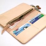 กระเป๋าหนังแท้ แบบยาว (long wallet) pre-order