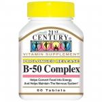 21st Century, B-50 Complex (วิตามิน บี รวม บำรุงสมอง) 60 เม็ด
