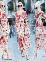 Embroidered Floral Luxury Long Dress
