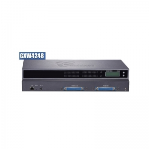 GXW 4248 FXS Gateway ขนาด 48-Port FXS, 1 Port Lan, T.38 Fax Over IP, 132x48 backlit graphic