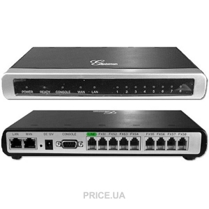 GXW 4008 FXS IP Analog Gateway ขนาด 8-Port FXS, 2 Port Lan, T.38 Fax Over IP, QoS