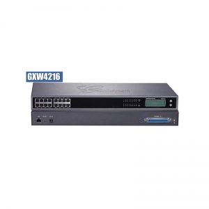GXW 4216 FXS Gateway ขนาด 16-Port FXS, 1 Port Lan, T.38 Fax Over IP, 132x48 backlit graphic