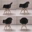 CASSA เก้าอี้ ที่นั่งพลาสติกมีที่พักแขนสไตล์โมเดิร์น ขาไม้บีช ขนาด 55x60x81 cm. thumbnail 10