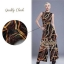 2sister made, Dark Fall Jumpsuit style Madame Julii เพล สูทขายาว เนื้อผ้าsilk+polyesterเนื้อมันลื่นใส่สบายค่ะ พิมพ์ลายเส้นเก๋ๆสีสันสดใสคมชัด ดีเทลแขนกุด กางเกงขาบาน เนื้อผ้ามีน้ำหนักใส่เป็นทรงสวย งานป้าย2Sister สินค้านำเข้างานพรีเมียมนะคะ Cutting/Pattern thumbnail 1
