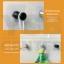 cassa ตะขอแขวนอเนกประสงค์ติดผนังแบบใส หัวตัดทรงกลม สั้น ติดผนังไม่เป็นรอย ผลิตจาก PP คุณภาพดี (แพ็ค 2 ชิ้น) thumbnail 5