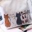 CASSA กระเป๋าผ้า กระเป๋าผ้าแคนวาส กระเป๋าสะพายข้าง ลายการ์ตูนน้องเหมี้ยวสุดน่ารัก สายปรับได้ thumbnail 4