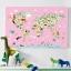 กรอบลอยแคนวาส Animal map of the world 36 x 24 นิ้ว thumbnail 1